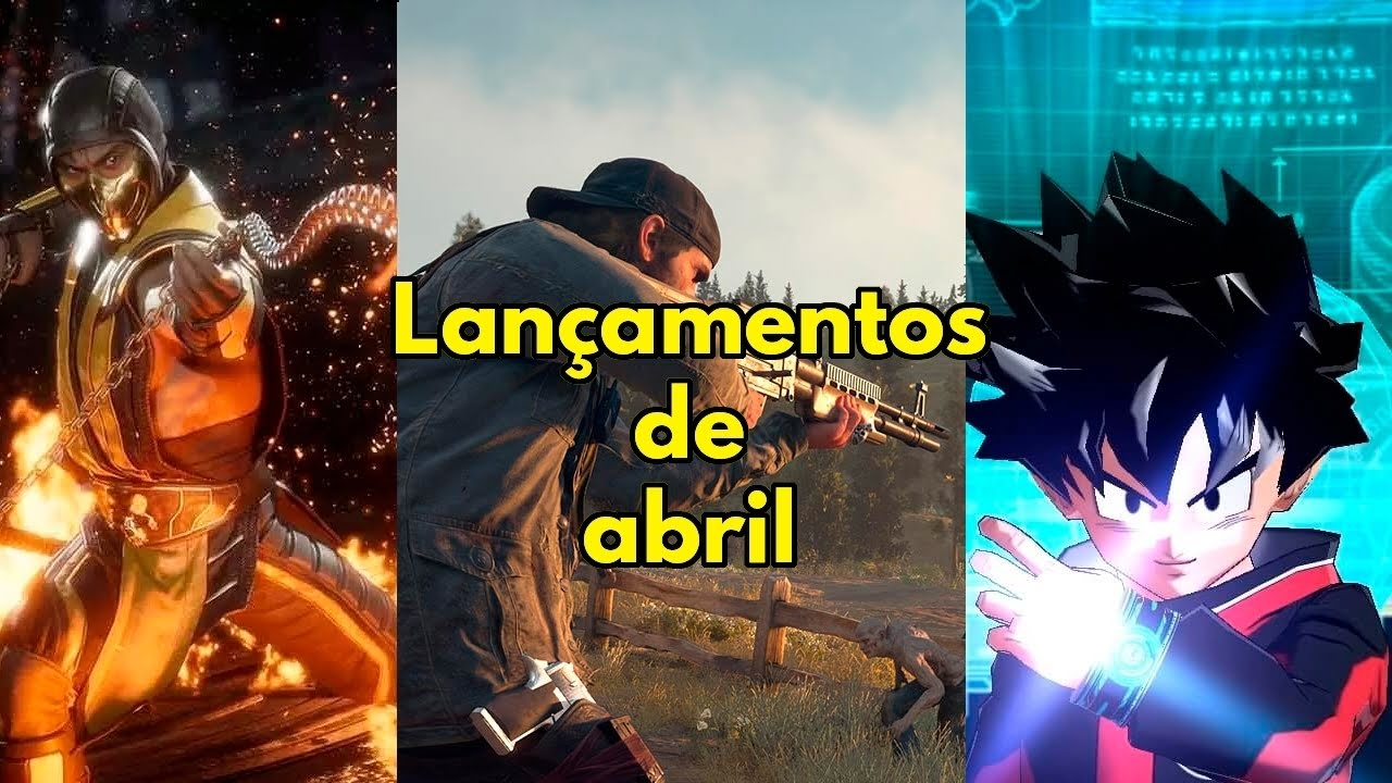 Lançamentos de games de abril