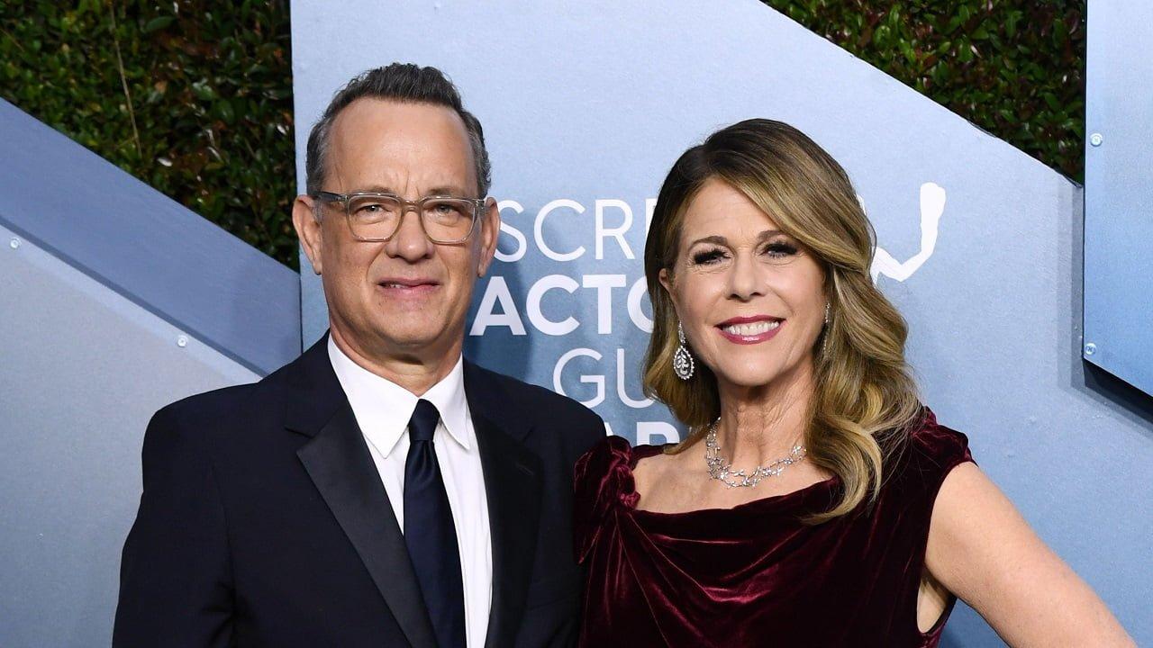 Tom Hanks e sua esposa