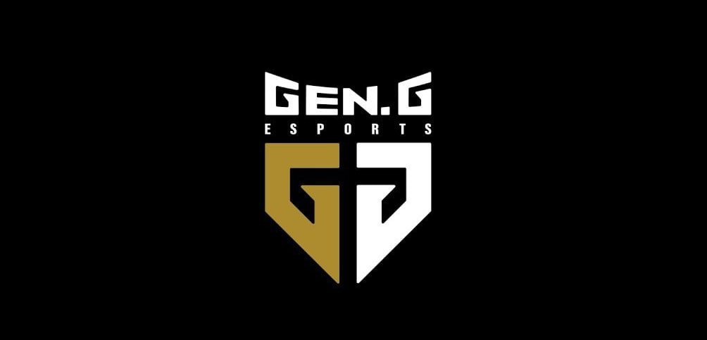 Logo da Gen.G Esports em um fundo preto.