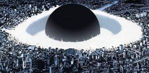 Imagem procurando relacionar os bombardeios de Hiroshima e Nagasaki à cultura pop japonesa