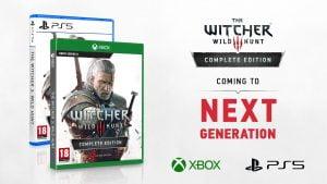 The Witcher 3 para a nova geração com suas respectivas capas
