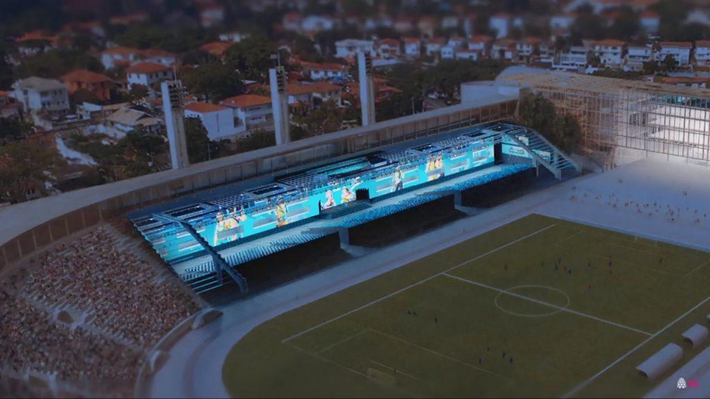 Estrutura da Arena Pacaembu