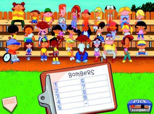 Imagem mostrando todos os personagens jogáveis de Backyard Baseball