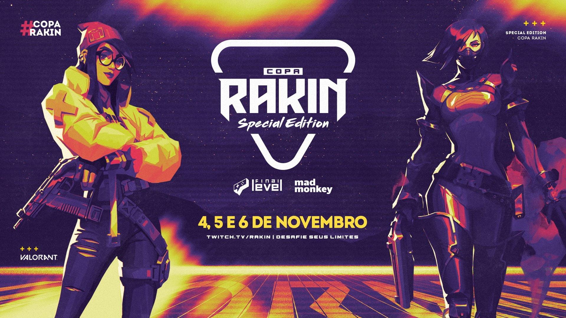 terceira edição da copa rakin de valorant será beneficente