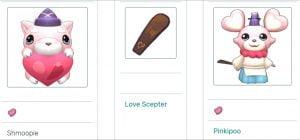 Imagem mostrando como evoluir o Shmoopie para um Pinkipoo