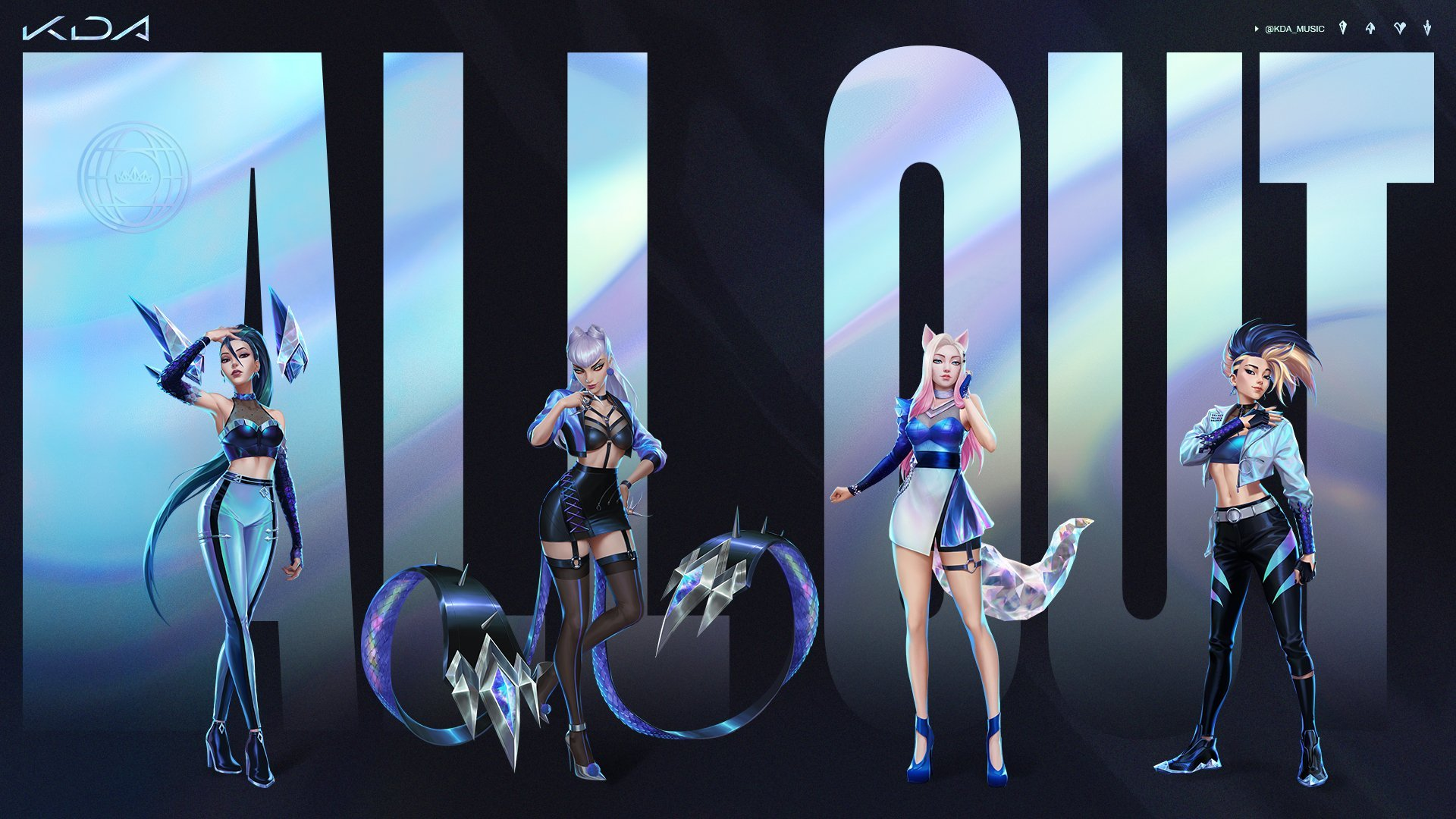 K/DA divulga artistas do novo single ALL OUT