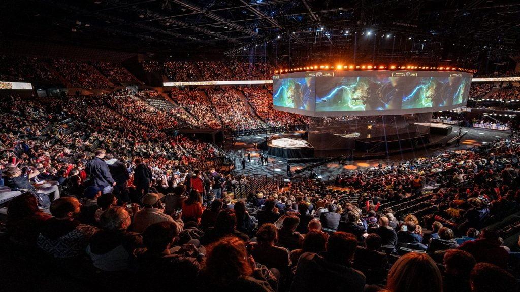 Arena do mundial de League of Legends - Imagem: Reprodução.