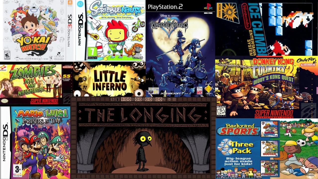 Imagem com a capa de diversos jogos