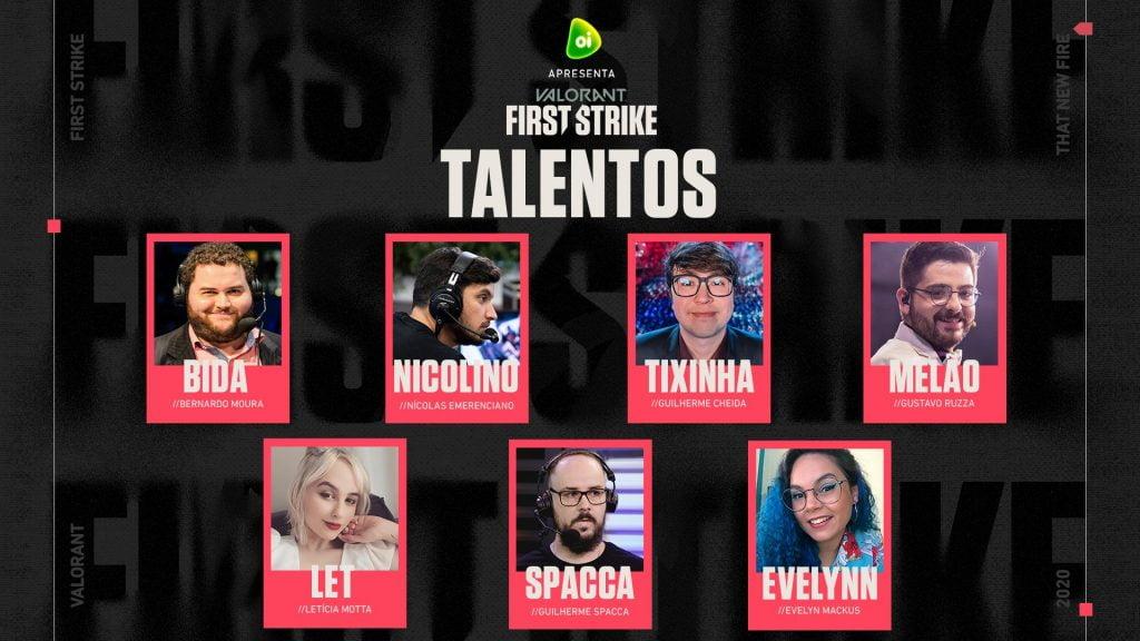 talentos transmissão valorant first strike br