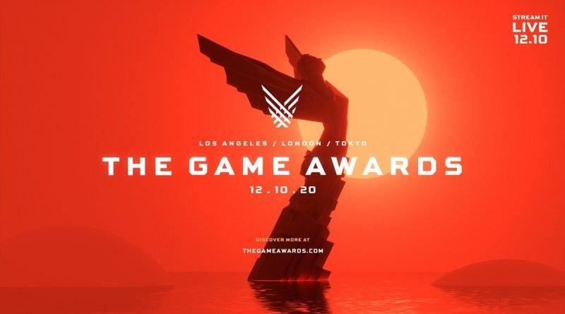 Imagem com a logo do The Game Awards, anunciando a data do evento como sendo 10 de dezembro.