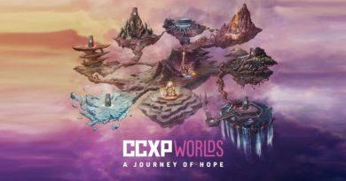 Imagem de divulgação da CCXP Worlds com as arenas que fazem parte do evento - painel Euphoria
