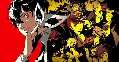 Imagem de divulgação de Persona 5 Royal, apresentando todos os personagens do game