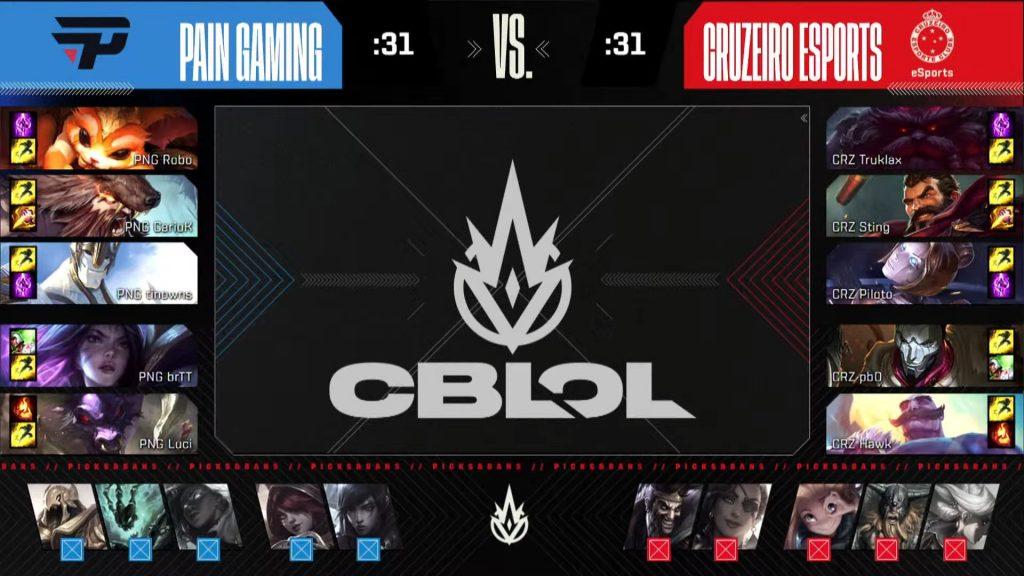 Escolhas de paiN e Cruzeiro pelo CBLOL