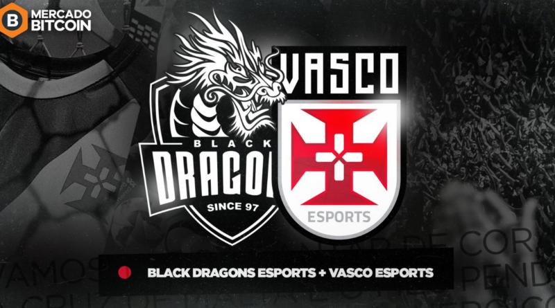 Anúncio com os brasões do Vasco e do Blackdragons