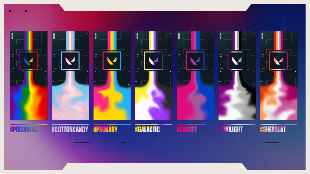 An image of each of the pride cards and their respective tokens.