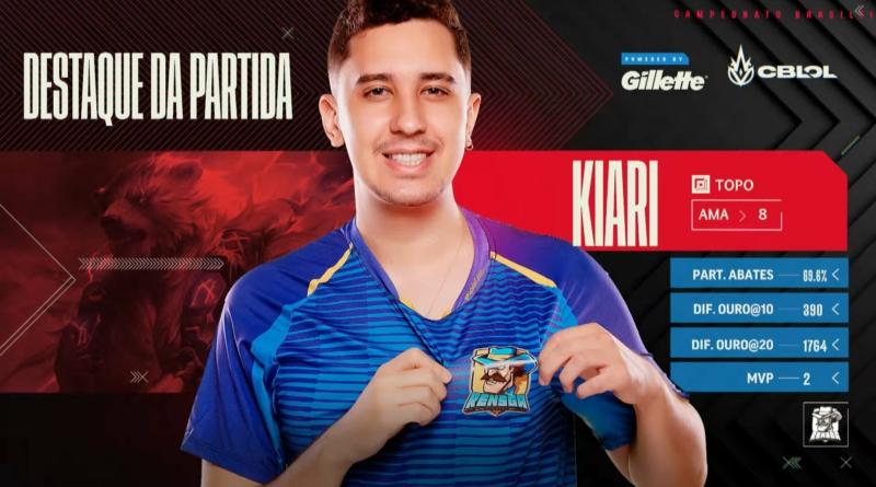 Kiari chega aos playoffs do 2º split do CBLOL junto com a Rensga Reprodução/Riot Games