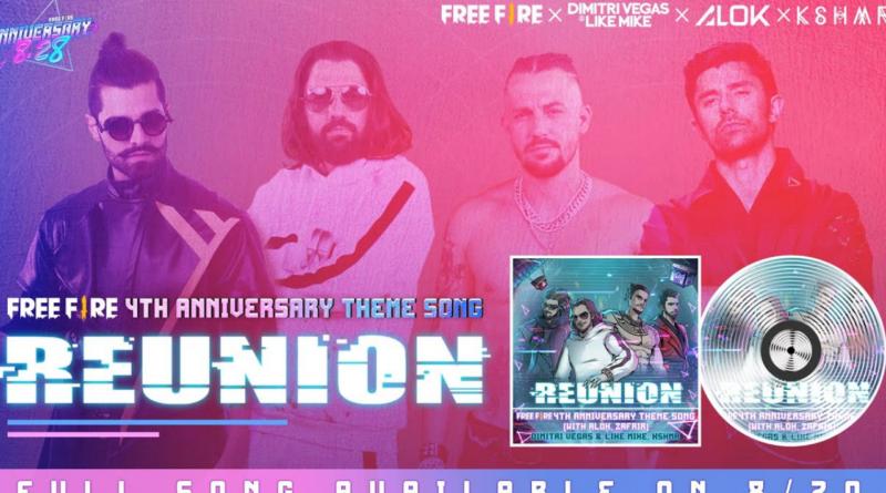 Reunion, música lançada em celebração ao 4° aniversário do Free Fire